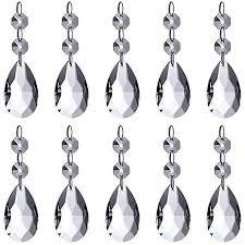 neewer teardrop chandelier crystal pendants glass beads pendant for house