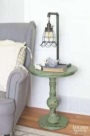 diy boxwood milk paint end table