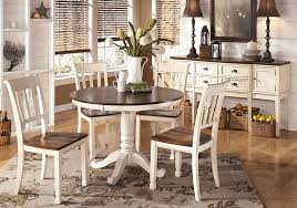 whitesburg round dining table and 4 side chairs