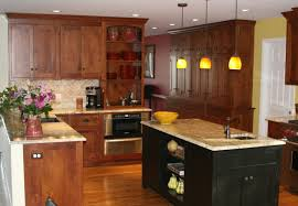 Cherry Shaker Kitchen Cabinets Black Cherry Kitchen Cabinets With American Cherry Shaker Style