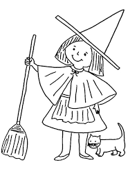 Small Picture Little witch coloring pages with cat ColoringStar