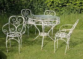 White Wrought Iron Patio Furniture Painting Wrought Iron Patio