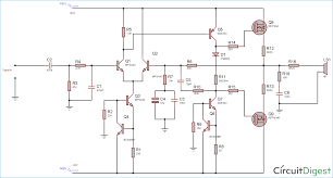 100w audio lifier circuit diagram and explanation