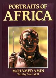 Portraits of Africa by Amin, Mohamed; Moll, Peter, Illustrated by Photos By  MOHAMED AMIN: Near Fine Hard Cover (1983) First   Reader's Corner, Inc.