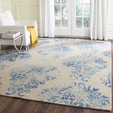 beige blue safavieh dip dye wool area rugs ddy516a