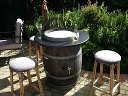 wine barrel outdoor furniture. Outdoor Fire Pit Table Wine Barrel Conversation Sets With . Furniture