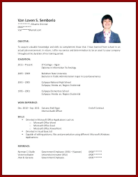 Resume With No Work Experience Extraordinary Examples Of Resumes For College Students With No Work Experience