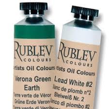 Rublev Oil Paint Color Chart Rublev Artists Oil Colours