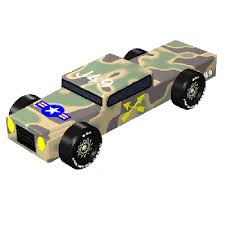 Pinewood Derby Cars Designs Army Truck Pinewood Derby 3d Design Plan Instant Download