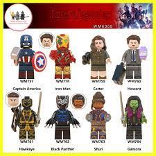 Minifigure lego siêu anh hùng Marvel Avengers super heroes Iron Man Black  Panther WM6068