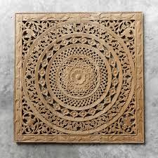 moroccan decent wood carving wall art hanging siam sawadee