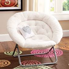 Ivory Sherpa Faux Fur Hang-A-Round Chair Nice chair for creating a reading  nook.