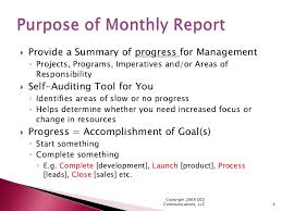 Monthly Performance Report Format How To Create Meaningful Monthly Reports