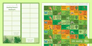 Superstar Weekly Reward Chart Ks2 Rainforest Themed Reading Sticker Reward Charts Y4