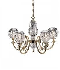 waterford lismore 5 arm polished brass finish chandelier 091571178885