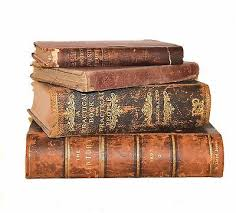 antique very distressed old books brown farm home decor 1883 1922 leather hc