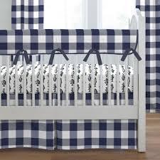 navy buffalo check crib bedding