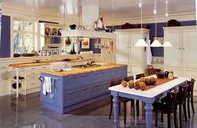 Cottage Kitchens Simple Nice Wooden Ceiling Brown Tile Floor Country Cottage