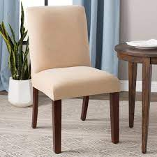 Slipcovers are a fast and cost effective way to protect your furniture and update your home decor. Sure Fit Stretch Pique Box Cushion Dining Chair Slipcover Reviews Wayfair Ca