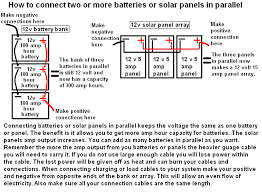 how to connect two or more batteries or panels in parallel Wiring Batteries In Parallel Diagram how to connect two or more batteries or panels in parallel wiring diagram for two 12 volt batteries in parallel