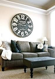 decoration living room clock great with photos of interior fresh in wall direction