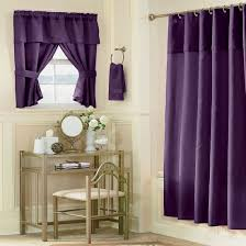 Elegant Purple Curtain Idea With Vintage Bathroom Interior Plus ...