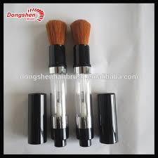 refillable makeup powder brush cosmetic powder dispenser brush retractable powder brush refill