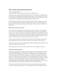 college application essay writing service by george ehrenhaft how to start a blog with example blog winning scholarship essays examples