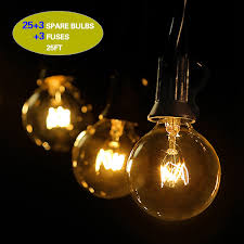 Outdoor String Lights, G40 Outdoor String Light Bulbs Listed, Waterproof String  Lights, For