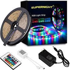 SUPERNIGHT LED Strip Light, 2835 SMD RGB Multi ... - Amazon.com
