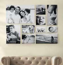 canvas photos on wood wall decor ideas