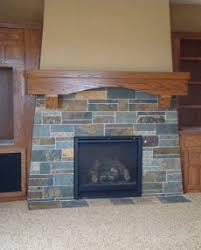 Slate Fireplace Surround  On The Level Home Remodeling LLC Slate Fireplace