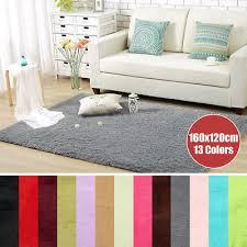 details about modern gy fluffy area rug living room carpet home bedroom rug 3x5 ft