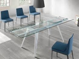 modern glass dining room tables. Porto Lujo Contemporary Extending Glass Dining Table With White Gloss Legs Modern Room Tables I