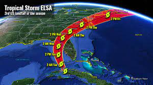 Tropical Storm Elsa now heads for a ...