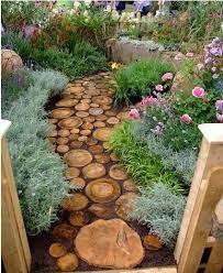 cute diy garden path idea backyard