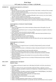 Food Service Skills Resume Food Service Attendant Resume Samples Velvet Jobs