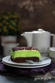 Cake Kukus Coklat Pandan Jajane Vivi