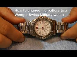 Wenger Watch Battery Chart Wenger Swiss Military How To Change The Battery To A