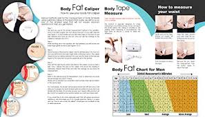 Body Fat Chart Women Lightstuff Body Health Tool Kit Skinfold Fat Caliper Body Tape Measure Bmi Calculator Instructions And Body Fat Charts For Men And Women Also