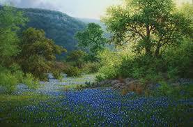 bluebonnet realistic landscape oil painting