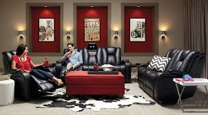 red living room sets. Kingvale Living Room Set Black Reclining Couch Set, Chrome End Tables, Red Rectangular Ottoman On A And Sets F