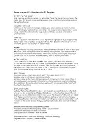Cv Examples Personal Profile Retail How To Write A Statement For