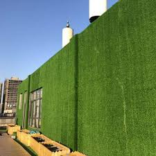 china 7mm green synthetic turf fence