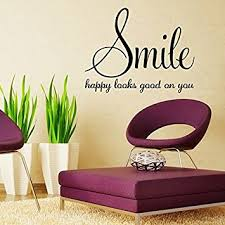Small Picture Amazoncom Aiwall 9338 Smile happy looks good on you Quote Wall