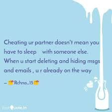 Cheating Quotes Classy Cheating Ur Partner Doesn Quotes Writings By Rachna R