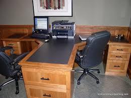 cherry custom home office desk. Simple Cherry Custom Cherry Partner Desk Two Person For Home Office O