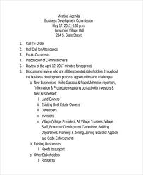 Agenda Business 46 Meeting Agenda Templates Free Premium Templates