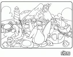 Small Picture Coloring Pages Club Penguin Party Club Penguin Pinterest