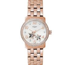 buy rotary ladies stars rose gold bracelet watch at argos co uk play video
